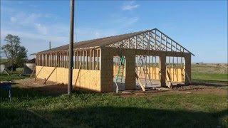 How to Build a 30'x40' garage yourself!