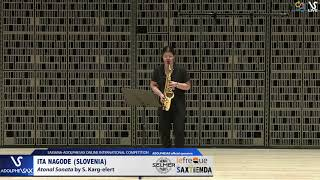 Ita NAGODE plays Atonal Sonata by S.K. Elert #adolphesax