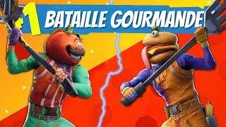 BATAILLE GOURMANDE : Burger VS Pizza sur Fortnite !