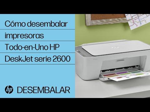 Cómo desembalar impresoras Todo-en-Uno HP DeskJet serie 2600