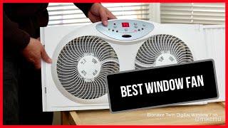 The Best Window Fan | Bionaire Twin Window Fan with Digital Thermostat 2019