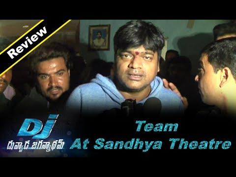 DJ Duvvada Jagannadham Team at Sandhya Theatre