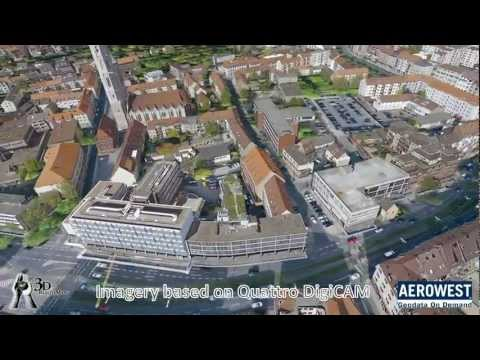 3D city modelling with Quattro DigiCAM, example of the city of Brunswick, Germany