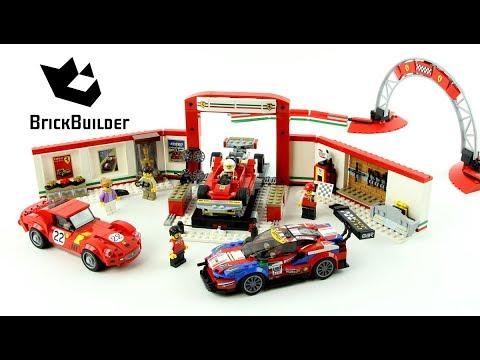 Vidéo LEGO Speed Champions 75889 : Le stand Ferrari