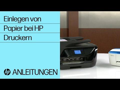 Einlegen von Papier bei HP Druckern