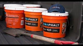 Aquaphalt – 3.5 Gal. Permanent Asphalt Repair Patch Black
