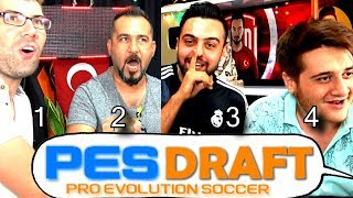 TAM 4 KİŞİ TARİHİ PES 2019 DRAFT ! TEAM SESEGEL VS TEAM ÇİRKEF !