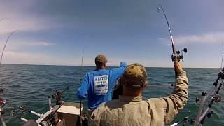 Salmon Fishing Blue Door Tournament With Team Blackout Kewaunee Wisconsin 2017