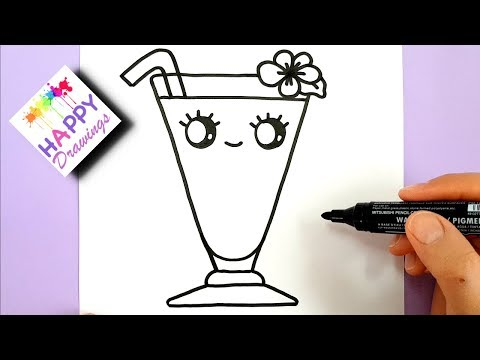 HOW TO DRAW A CUTE SUMMER DRINK EASY