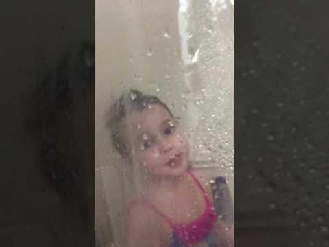 Harper in the shower