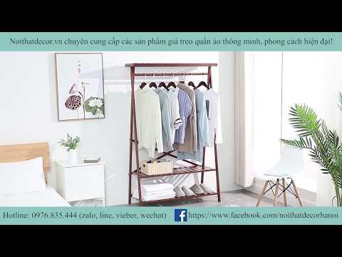 Nội Thất Decor - Giá Treo Quần Áo Dercor GT20 Chất Liệu Tre Khối Cao Cấp/Natural Bamboo Clothes Rack
