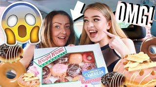 HILARIOUS DOUGHNUT PRANK ON MY MUM! TRYING KRISPY KREME DONUTS *GONE WRONG!*
