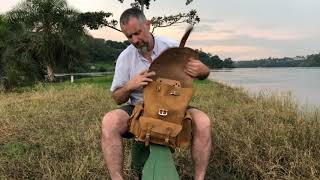 Leather Backpack Review At Head Of The River Nile