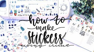 How I Make My Stickers!! Using Cricut and Procreate 💕