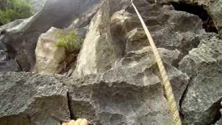 Klippeklatring i Halong Bay