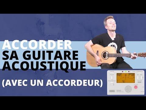 Comment accorder sa Guitare acoustique avec un accordeur ...