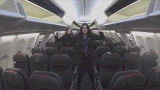 Flight Attendants Get Their Dance on in the bubly Skybox Challenge