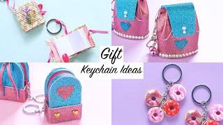 4 Easy DIY Gift Keychain Ideas | Gift Ideas | How To Make Keychain