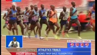 Agnes Tirop bags 10000M title in Athletics trials at Nyayo National Stadium