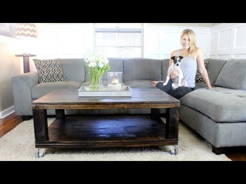 Kaffeetisch selber bauen - Rustikaler Einrichtungsgegenstand für dein Wohnzimmer