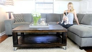 The Rustic Coffee Table - Easy DIY Project
