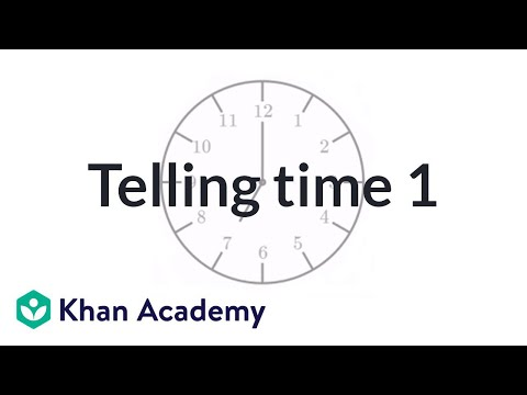 Telling time (labeled clock) (video) | Time | Khan Academy