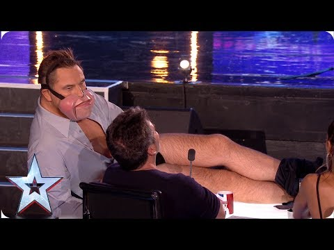 Ventriloquist Jimmy Tamley makes David Walliams STRIP! | Auditions | BGT 2019 (видео)