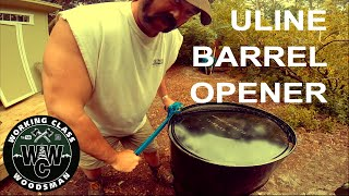 How you should safely cut the top off a 55 gallon steel drum (with Uline Barrel Opener)