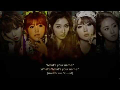 4 Minute   What's your name? ~ lyrics on screen KOR ROM ENG 1)