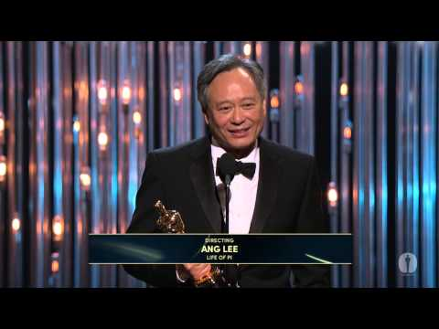 Ang Lee winning the Oscar® for Directing