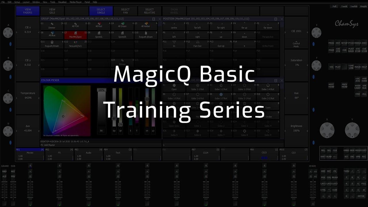 MagicQ Basic Training Playlist