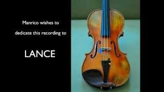 "Manrico Padovani Violin - ERNST, ""The last Rose in Summer"" (Etude 6 )"