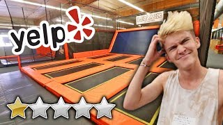 WE WENT TO THE WORST REVIEWED TRAMPOLINE PARK...