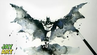 Batman Arkham Knight - Watercolor Painting - Jay Art