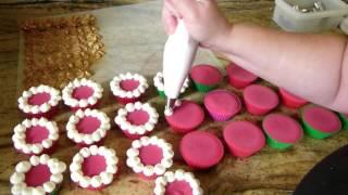 Making Christmas Tree Cupcake Soaps