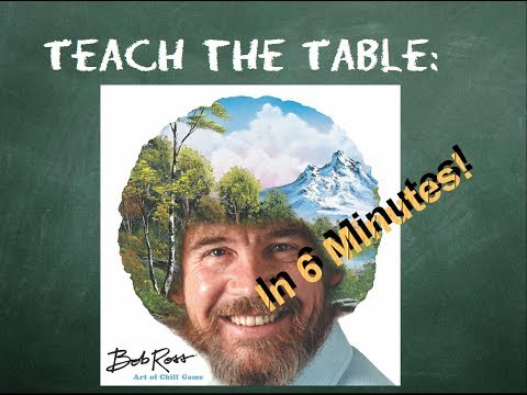 How to play Bob Ross: Art of Chill Game - Teach The Table