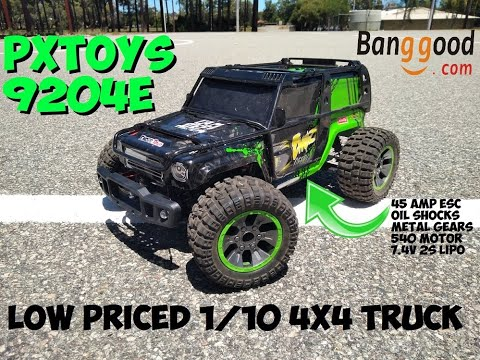 PXTOYS 9204E - WELL PRICED 1/10 4X4 RC TRUCK With Metal and Oil Filled Shock Upgrades!