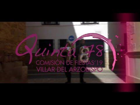 Presentación Comisión de Fiestas 2019 Villar del Arzobispo