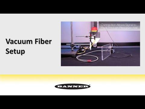 Einrichtung eines unterdruckfesten Lichtwellenleiters