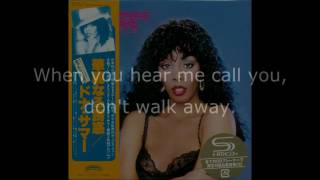 "Donna Summer - Walk Away LYRICS SHM ""Bad Girls"" 1979"