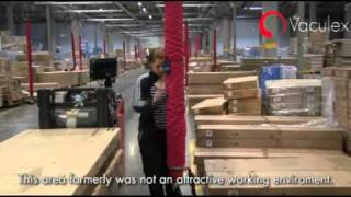 Order picking at Jysk Distribution Center - using Vaculex TP