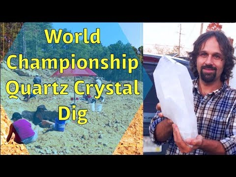 World Championship Quartz Crystal Dig in Arkansas
