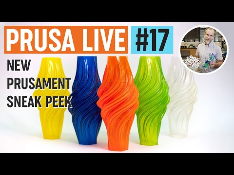 First look at new Prusament material, new contest and chat with Paul Paukstelis - PRUSA LIVE #17