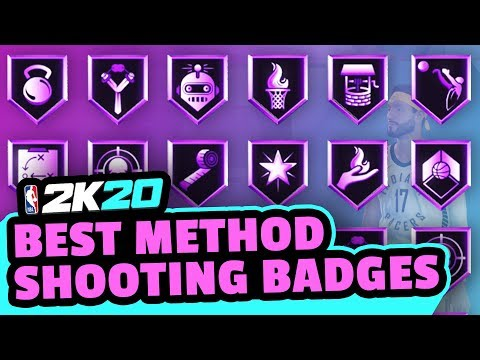 BEST WAY TO GET SHOOTING BADGES in NBA 2K20 (NO GLITCH)