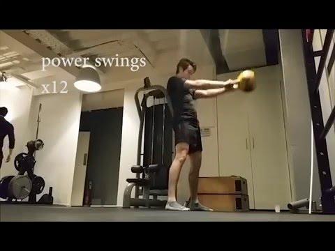 Danny D   30 minute 16 kg kettle bell full body workout   beginner  