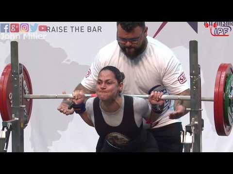 Faridi Saavedra - 9th Place 392.5kg Total - 57kg Class 2019 Womens IPF Classic Worlds