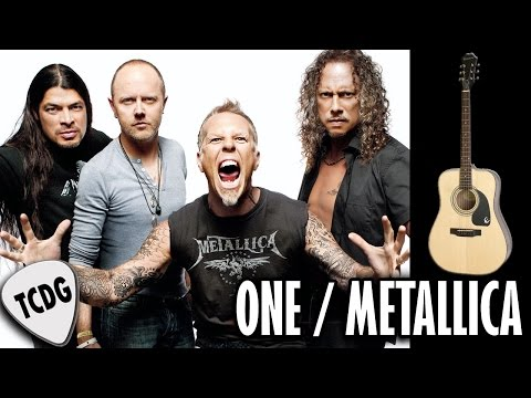 How To Play One On Acoustic Guitar - Metallica | Very Easy Lesson Tutorial For Beginners TCDG