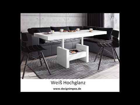 """Couchtisch Funktionstisch ausziehbar und höhenverstellbar """"intellegente Möbel"""" Modell HLU-111"""