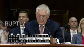 USA: Tillerson slams China during Senate confirmation hearing