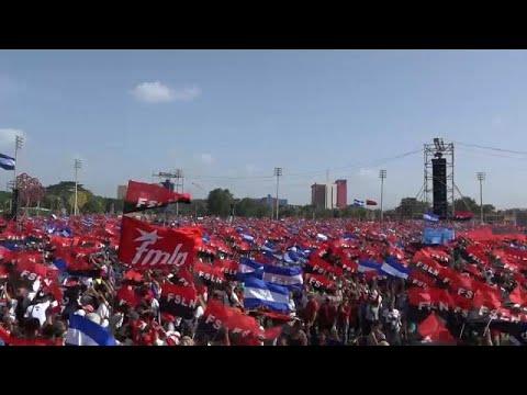 Διαδήλωση υπέρ του Ντανιέλ Ορτέγκα στη Μανάγκουα